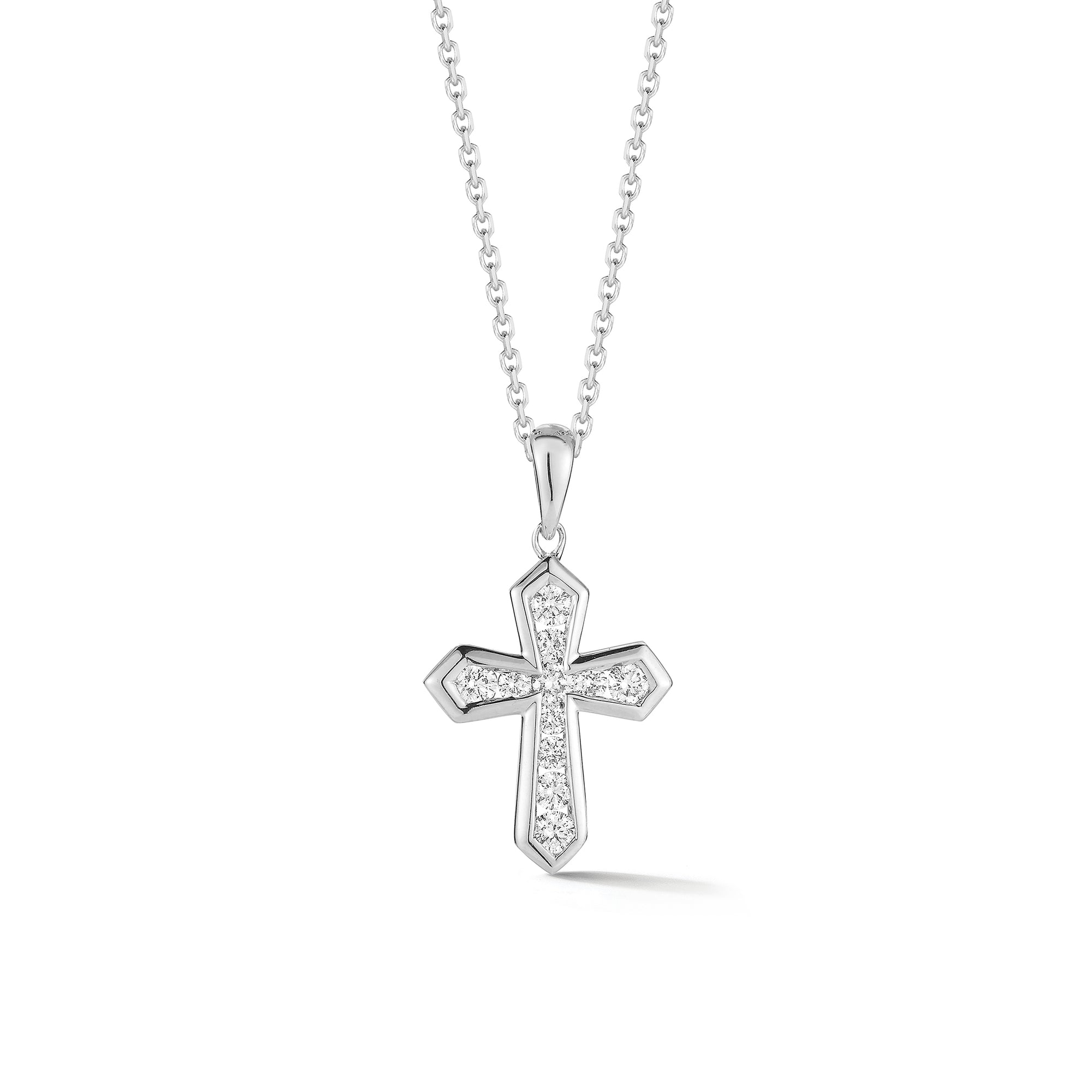 Diamond Mini Orthodox Cross Pendant