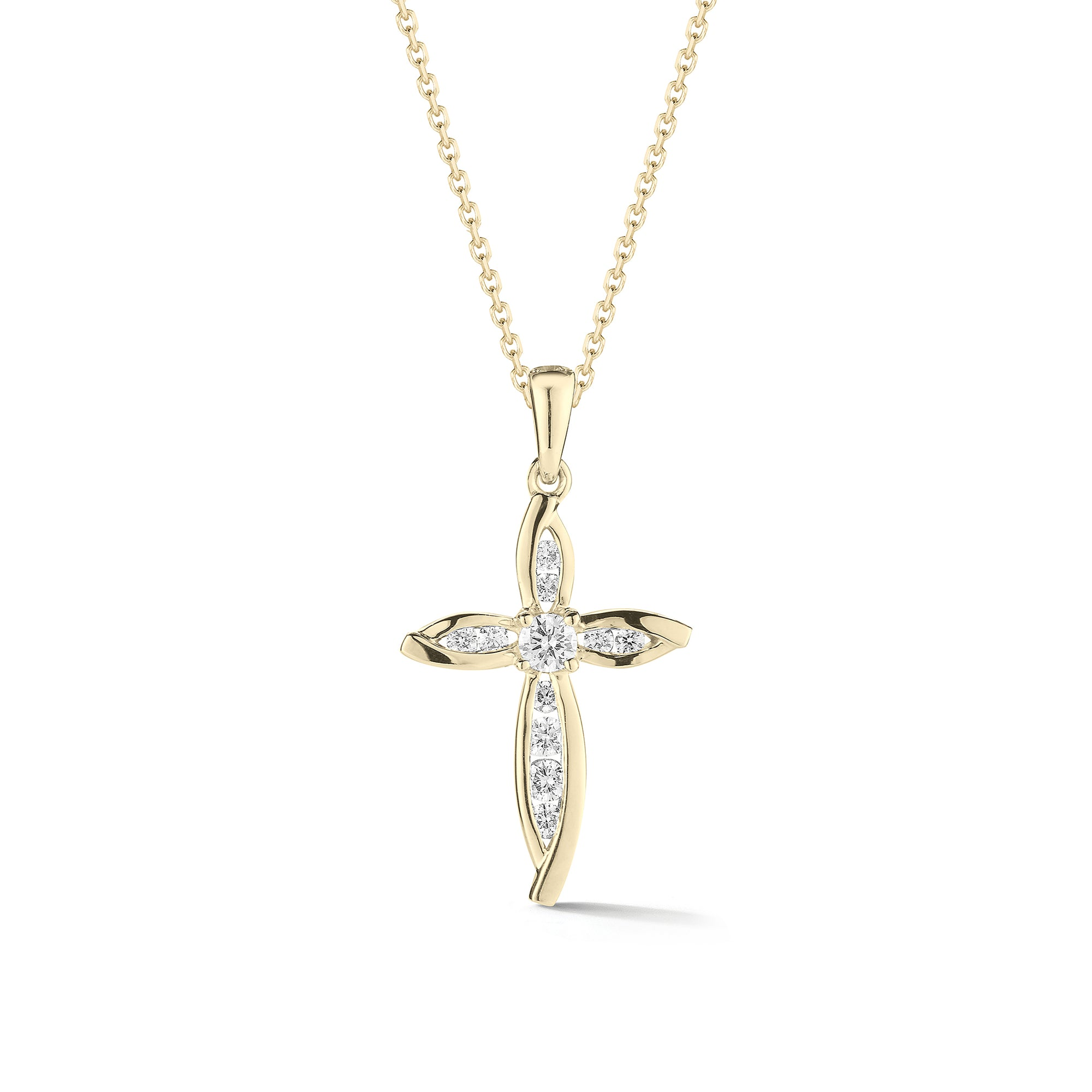 Diamond Pointed Cross Pendant