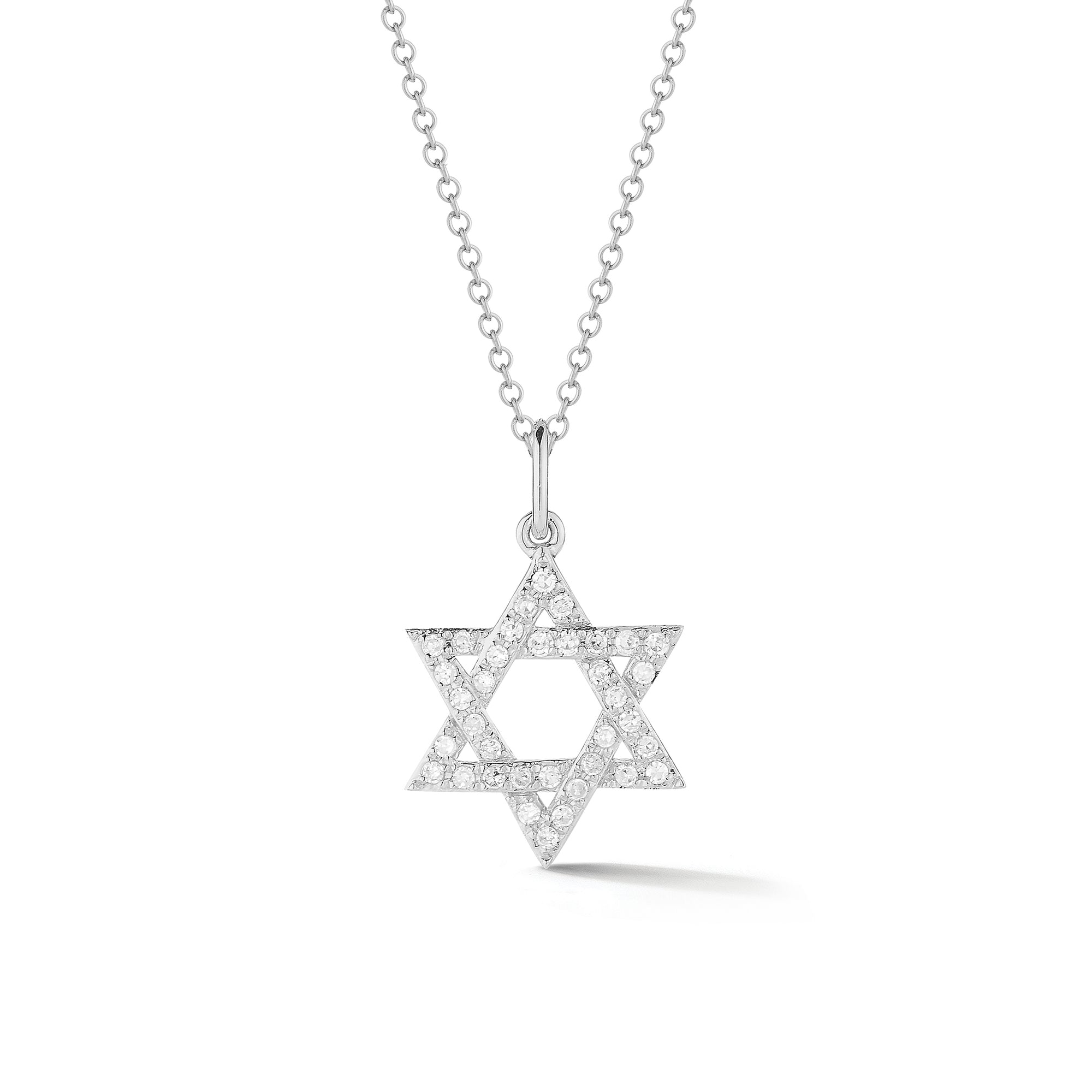 Diamond Small Star of David Pendant