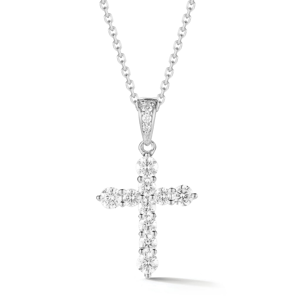 Graduated Diamond Cross w/ Diamond Bail