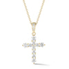 Graduated Diamond Cross Pendant