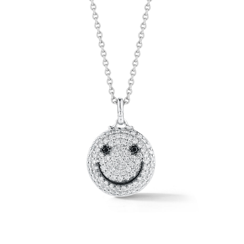 Diamond Smiley-Face Pendant