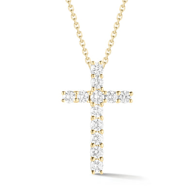 Diamond Simple Cross Pendant