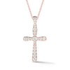 Diamond Rounded Cross Pendant