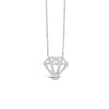 Diamond Cutout Pendant Necklace