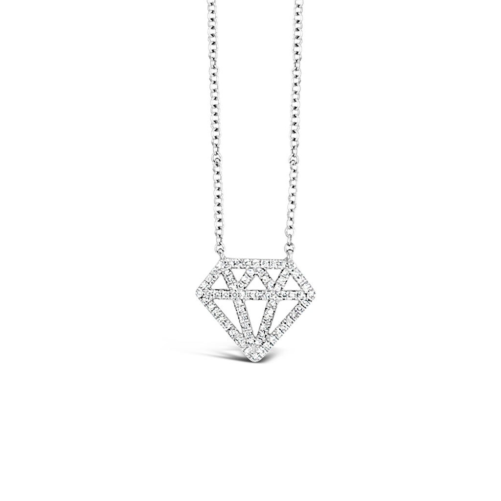 Diamond Cut-out Pendant Necklace