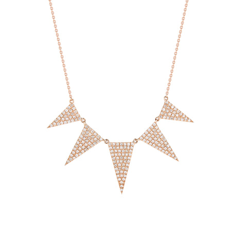 5 Graduating Triangle Diamond Necklace