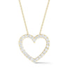 Diamond Heart Cutout Pendant Necklace