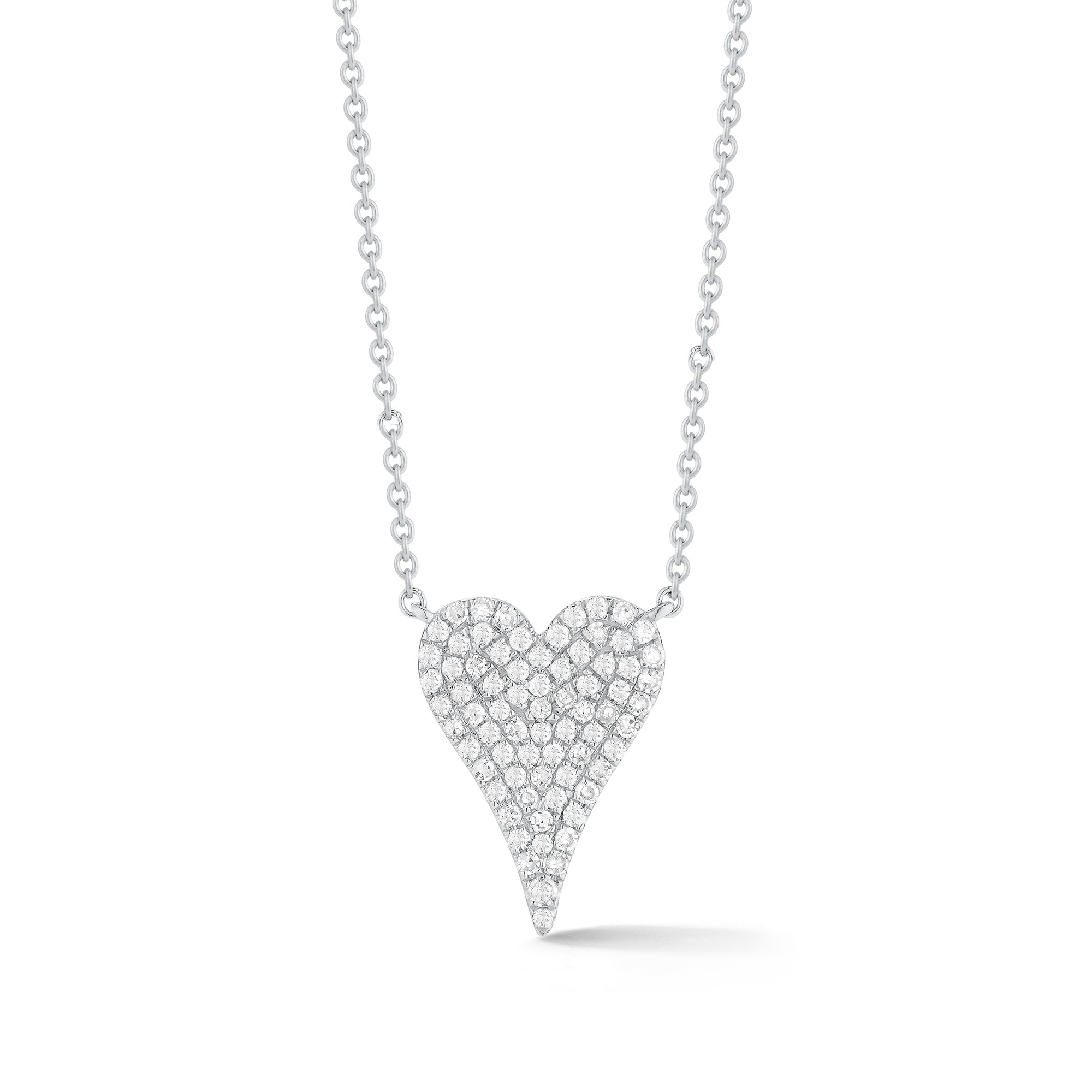 Diamond Small Elongated Heart Necklace