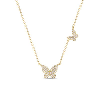 Diamond Butterflies Necklace