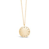 Diamond Dotted Disc Pendant Necklace
