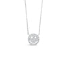 Diamond Small Smiley Face Pendant Necklace