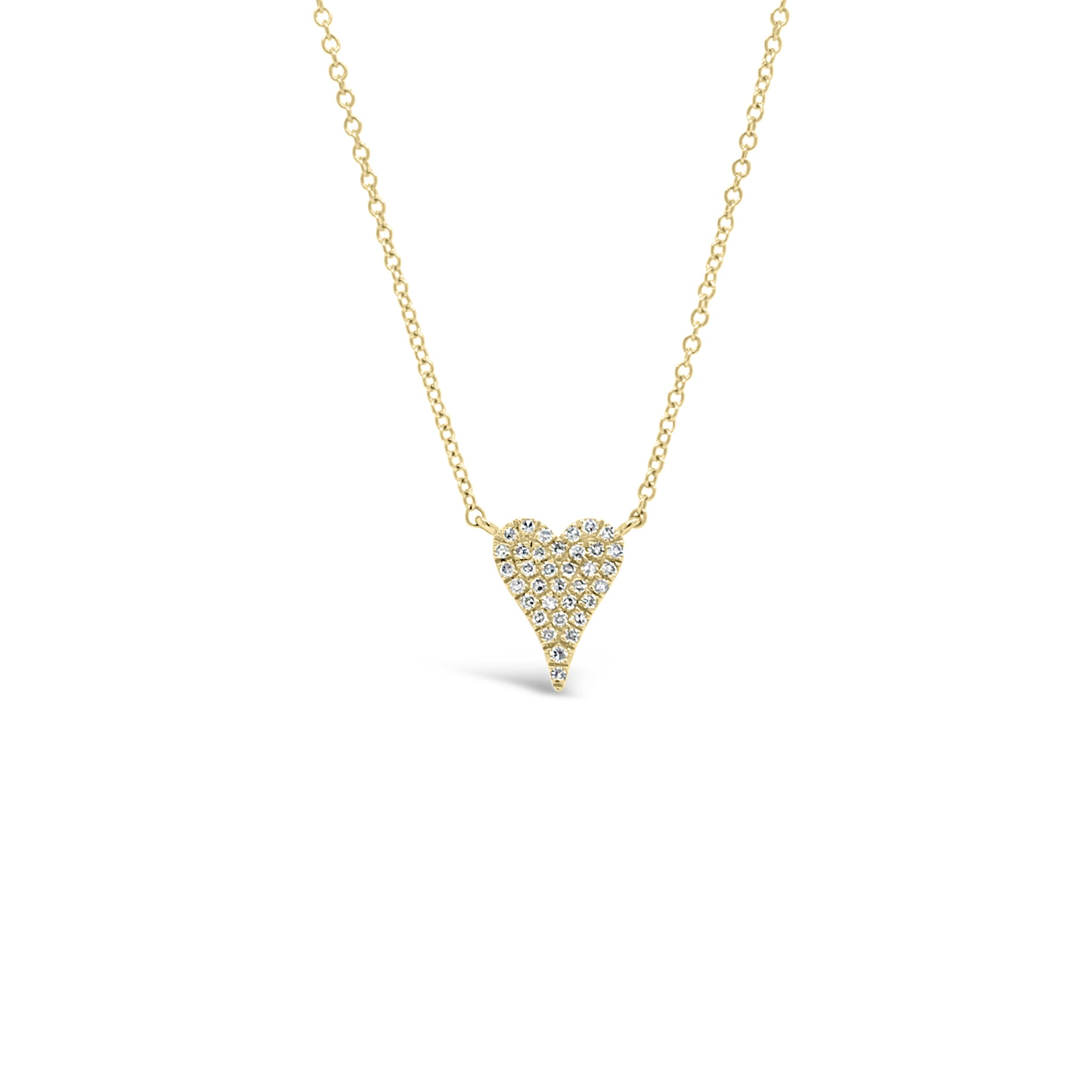 Diamond Mini Elongated Heart Pendant