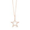 Diamond Open Star Pendant Necklace