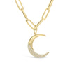 Diamond Crescent Moon Pendant Charm