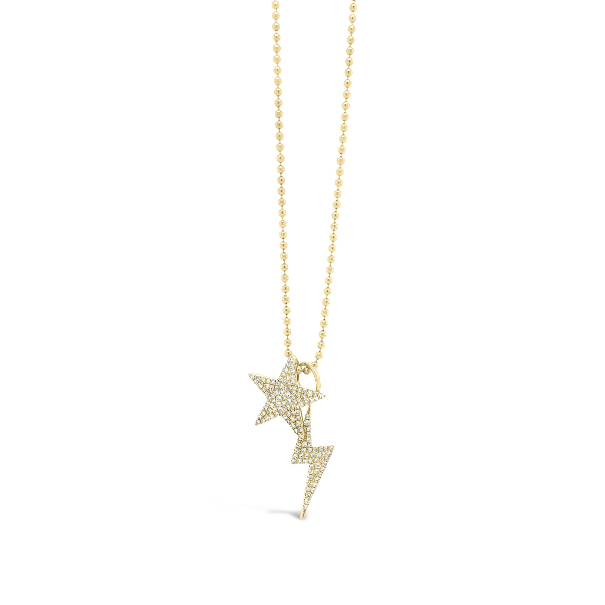 Diamond Star & Lightning Bolt Pendants
