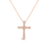 Diamond Cross Pendant with Milgrain Detail