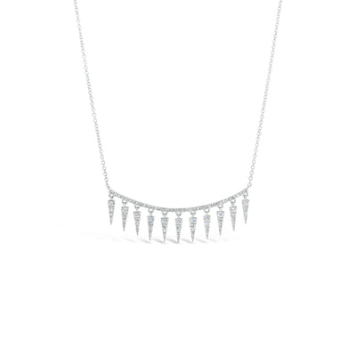 Diamond Spike Bar Necklace