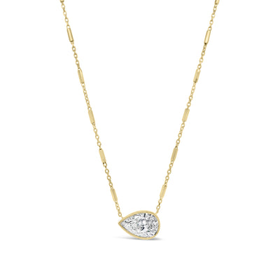 Pear-Shaped Diamond Pendant Necklace