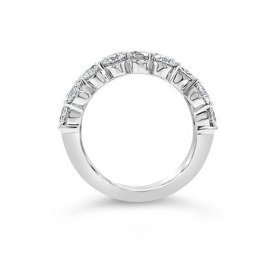 Alternating Diamond Wedding Band