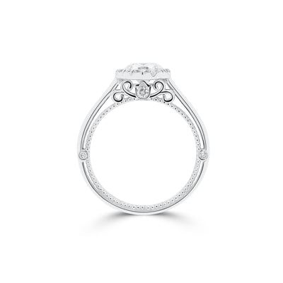 Round Brilliant with Halo Engagement Ring