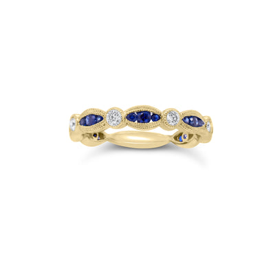 Sapphire & Diamond Stackable Ring