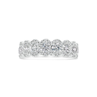 Diamond Oval Wedding Band