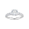 Round Diamond Engagement Ring with Diamond Shank