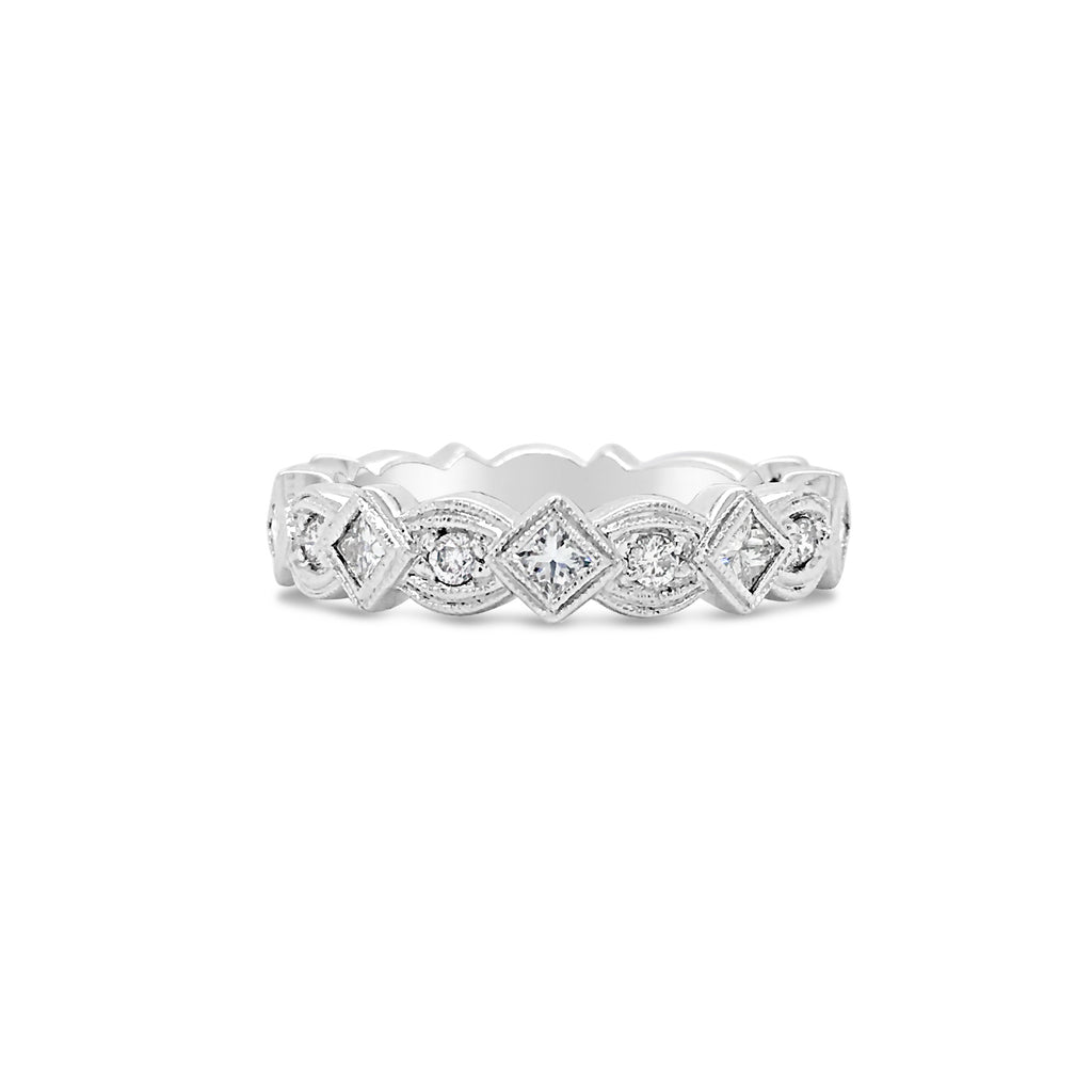 Geometric Diamond Eternity Band Ring