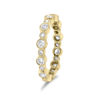 Diamond Eternity Band with Milgrain