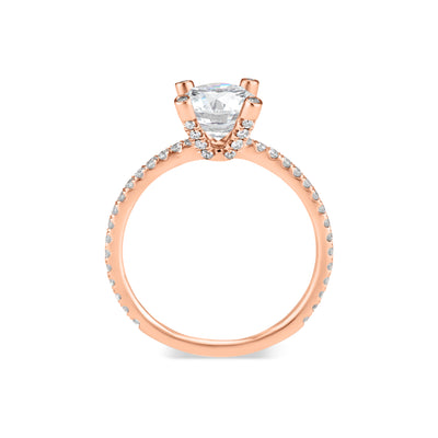Round Diamond Engagement Ring with Diamond Prongs