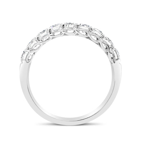 9 Stone Diamond Wedding Band