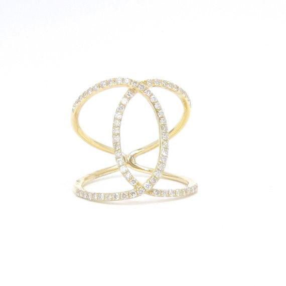 Open Criss Cross Ring