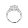 Pear Halo Diamond Engagement Ring with Split Shank