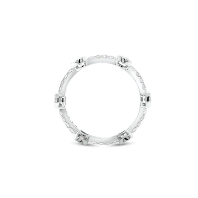 Diamond Bezels Stackable Ring