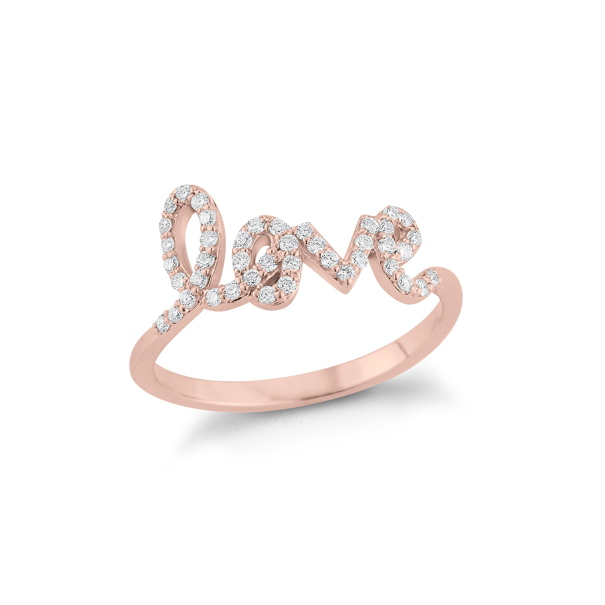 "Diamond freestyle ""Love"" Ring"
