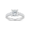 Princess-Cut Diamond Engagement Ring with Diamond Shank