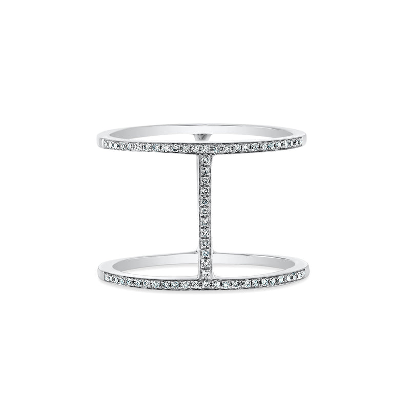 Diamond H Ring