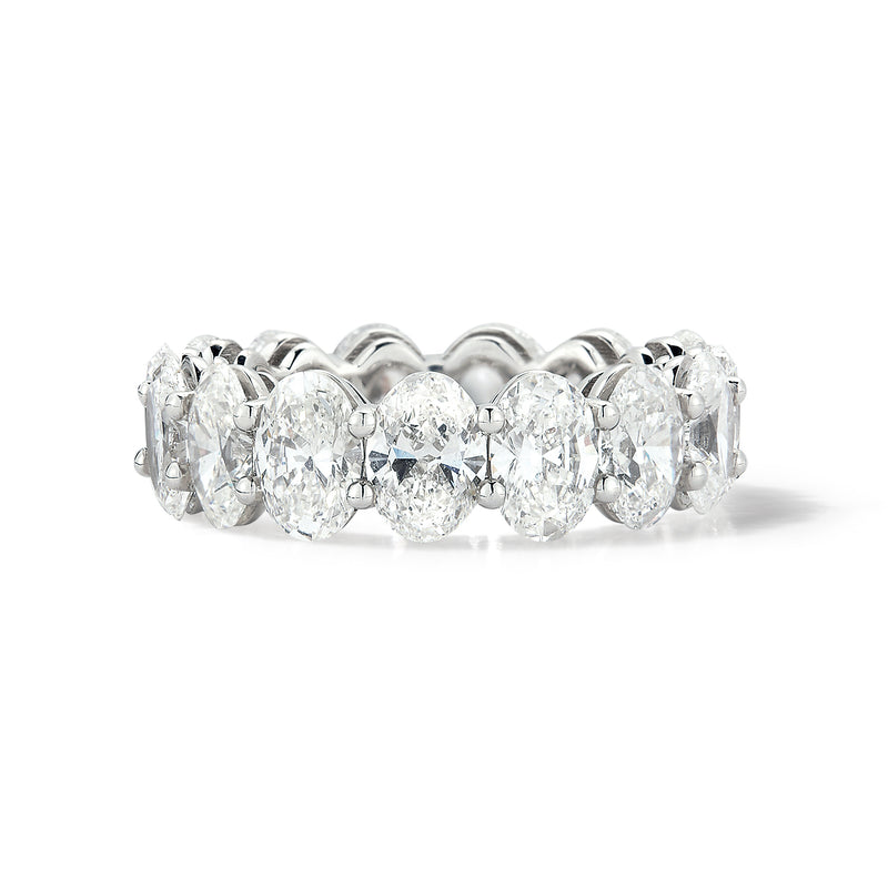 Platinum Oval Diamond Eternity Band