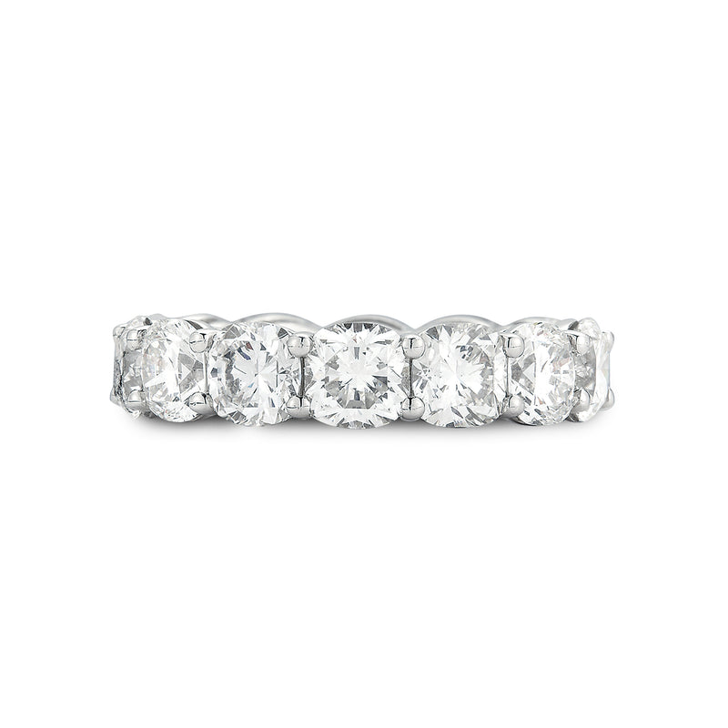Platinum Cushion Cut Diamond Eternity Band