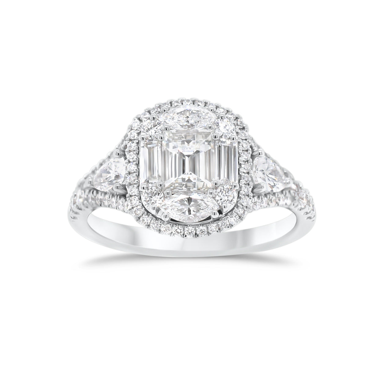 Diamond Mixed Cuts Engagement Ring