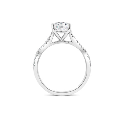 Round Diamond Engagement Ring with Twisted Shank