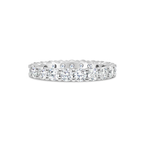 Simple Shared Prong-Set Diamond Eternity Band