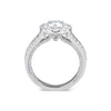 Round Halo Diamond Engagement Ring with Split Shank