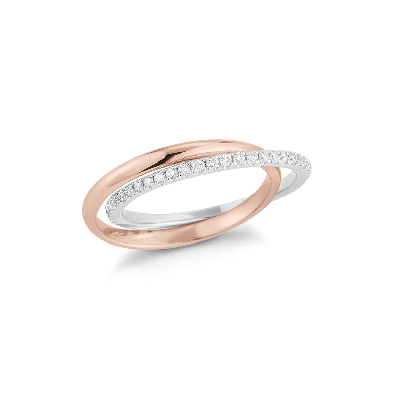Interlocking Two-Tone Diamond Ring