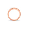 Diamond & Beaded Gold Stackable Ring