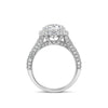 Double-Edge Halo Diamond Engagement Ring