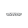 Four Prong-Set Diamond Eternity Wedding Band
