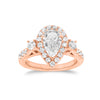 Pear Halo Diamond Engagement Ring with Side Stones