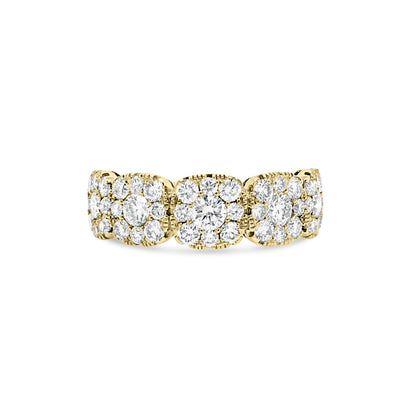 Square-Shaped Diamond Wedding Band
